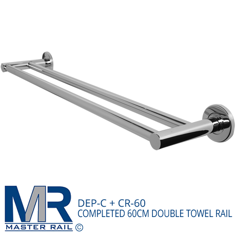 DEP-C + CR-60 COMPLETED 60CM DOUBLE TOWEL RAIL