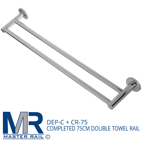 DEP-C + CR-75 COMPLETED 75CM DOUBLE TOWEL RAIL